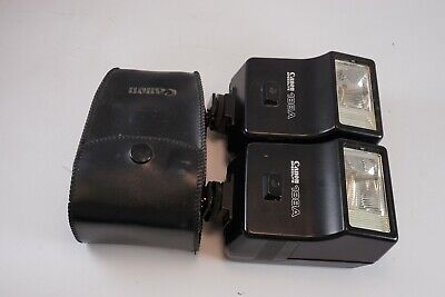 **GOOD** Lot of 2 Canon Speedlite 188A Shoe Mount Flash for FD 35mm Film Cameras