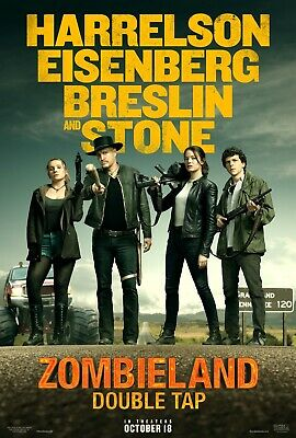 "Zombieland Double Tap Poster 48x32"" 40x27"" 36x24"" 2 Movie Film 2019 Print Silk"