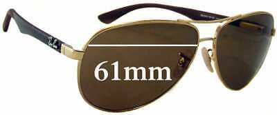 SFx Replacement Sunglass Lenses fits Ray Ban RB8313 - 61mm wide