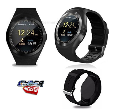 Orologio Smartwatch Android Ios Bluetooth Con Sim E Slot Micro Sd Y1 Bianco