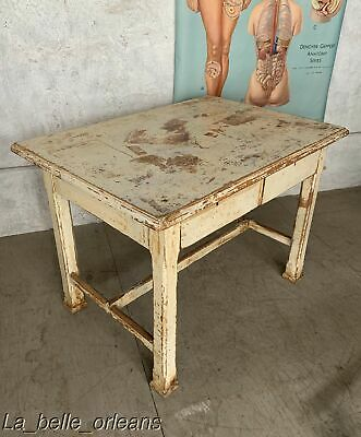 LATE 19TH C. LOUISIANA PRIMITIVE KITCHEN / WORK TABLE. FAMOUS MOVIE PROP. L@@k!!