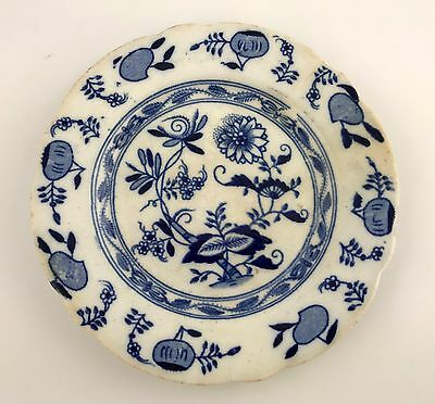 VERY EARLY Antique Blue Onion Small Plate ~ 1800s or Older