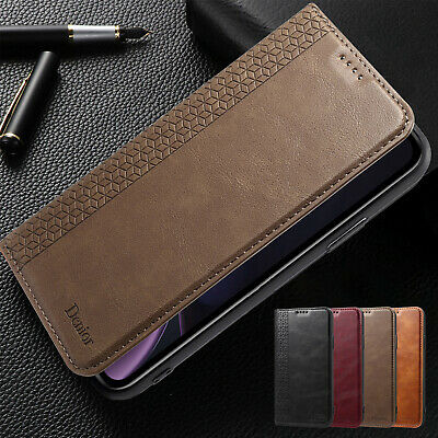 For iPhone XS Max XR 7 Plus 8 Case Magnetic Flip Leather Slim Card Wallet Cover