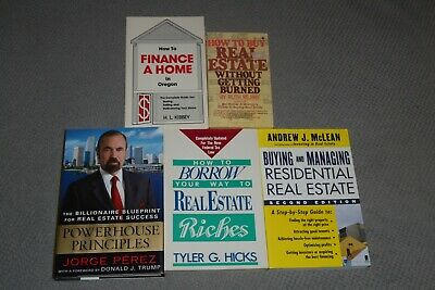 Lot of Five Real Estate Books~All In Xlnt Clean Cond.~How To Buy & Sell~Invest!!