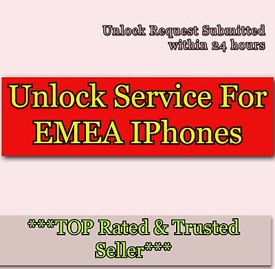 Unlocking Service FOR  EMEA WORLDWIDE FOR iPhone 6 6S 6 PLUS SE 5S 5C 5 4S 4 3GS