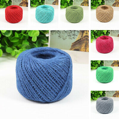 AU 1pc Jute Twine Rope Natural Twisted Burlap Hemp Cord String Various Color 50m