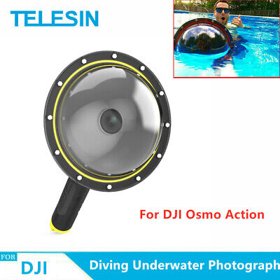 "TELESIN 6"" Dome Port Waterproof Case for DJI Osmo Action Underwater Photograph"
