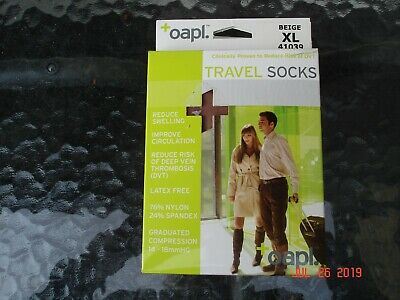 Miracle  Compression Socks Anti Fatigue Unisex Travel DVT beige Stocking xl