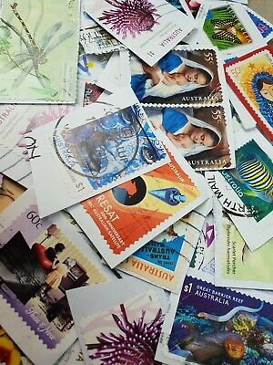 160+ Australian used ONLY High Value Incl $1 stamps kiloware bulk FAST POST