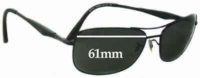 SFx Replacement Sunglass Lenses fits Ray Ban RB3515 - 61mm Wide