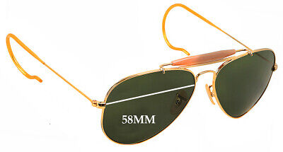 SFx Replacement Sunglass Lenses fits Ray Ban Aviator Outdoorsman RB3030 - 58mm W