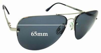 SFx Replacement Sunglass Lenses fits Quay Australia Muse Fade 65mm wide