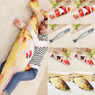 Simulated Fluffy Artificial Fish Cat Toy Pillow for Pets Cats Kitties Kitten HOT
