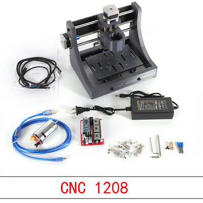 3 Axis 1208 USB CNC Router Wood Carving Engraving PCB Milling Machine 3D Printed