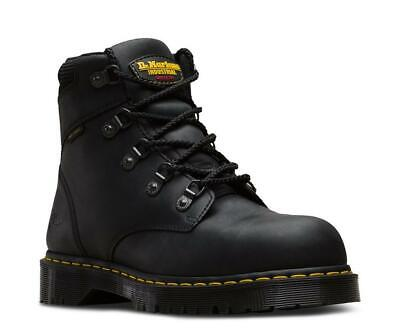 f3293fbe41e DR. MARTENS HOLKHAM Steel Toe Leather Hike Boot Black Industrial UK 6 US 7M  8F