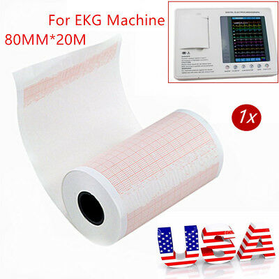 1PCS 80MM*20M EKG Thermal Printer Paper for ECG EKG Electrocardiograph Machine