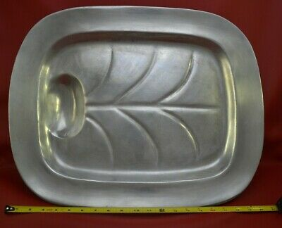 """WILTON RWP ARMETALE PEWTER 20-3/4"""" Serving/Meat Tray, Columbia, PA Vintage"""