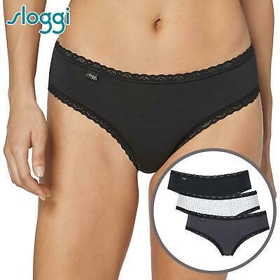 Sloggi 2 Pack Touch It Cotton Hipster Briefs White S-L Womens