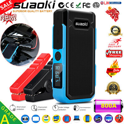 20000mAh 800A USB Auto Car Jump Starter Pack Booster Battery Charger Power Bank