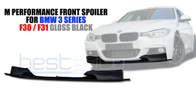 BMW F30 F31 Front Splitter Diffuser Lip Spoiler Gloss Black M Performance Style