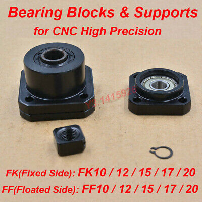 FK/FF10-20 High Precision Bearing Blocks & Support end for CNC Bracket fixed End