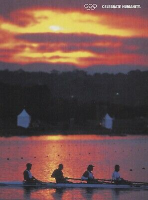 Celebrate Humanity Sydney 2000 Olympics Official post card Steve Redgrave