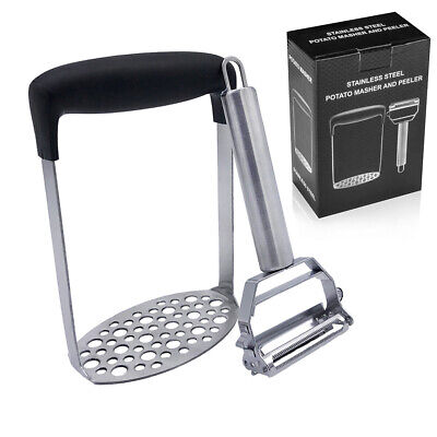 Potato Masher + Peeler Fine Mesh Platter Stainless Steel Vegetable Peeler Fruits