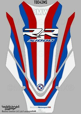 BMW S1000RR 2019 Motorsport Motorcycle Tank Pad Protector Gel Paint Protection