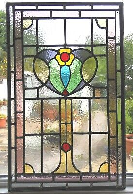 HAND CRAFTED STAINED GLASS  PANEL - ALSO MADE TO ORDER - Ref SG375