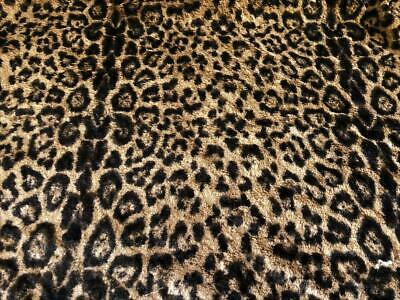 Super Luxury MICRO Faux Fur Fabric Material - LEOPARD BROWN