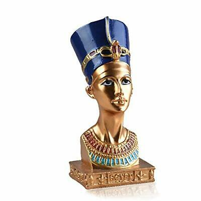 Ancient Statues Egyptian Queen Nefertiti Small Head And Bust Resin Figurine Home