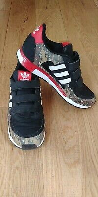 ADIDAS ZX 850 CF I Junior Shoes Black Leather Canvas Tears M19747-Size UK 3