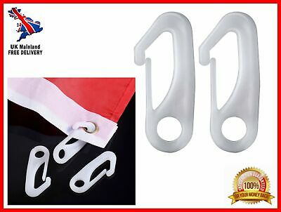 "12 Pcs Durable Tatuo 2.36"" Nylon Flag Pole Clip Snap Hooks Flagpole Attachment"
