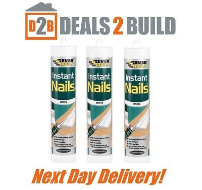 1 tube Everbuild INSTANT NAILS Grab Adhesive strong GlueBond NEXT DAY DELIVERY