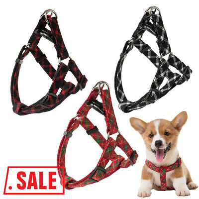 Dog Harness Durable Solid Nylon Basic Halter Harnesses for Dogs Daily Walking