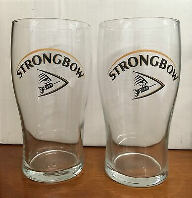 Strongbow Beer Pint Glasses Set of 2