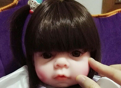 22'' Toddler Reborn Baby Girl Doll Silicone Vinyl Likelife Newborn Toys Kid Gift
