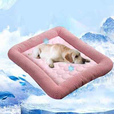 Pet Dog Cat Cooling Comfortable Sleeping Mat Bed Washable Large 76x58CM