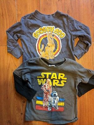 Boys L/S T-Shirt Lot Sz 18 Mo Scooby Doo Old Navy Collectabilitees/Star Wars