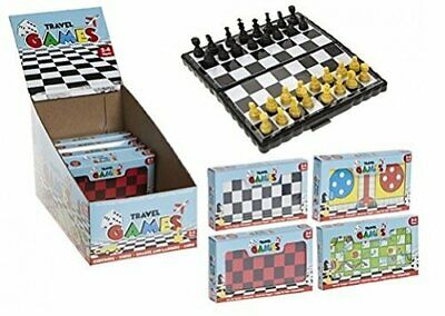 Magnetic Travel Board Games (4 To Collect) Chess Ludo Snakes & Ladders Draughts.
