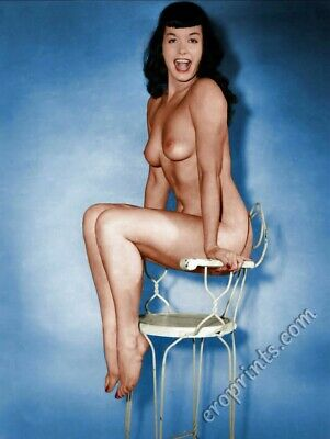 BETTIE PAGE Vintage Pin-up 8x10 Year 1955 /Metallic Finish Photo Print 8x10 Nr12