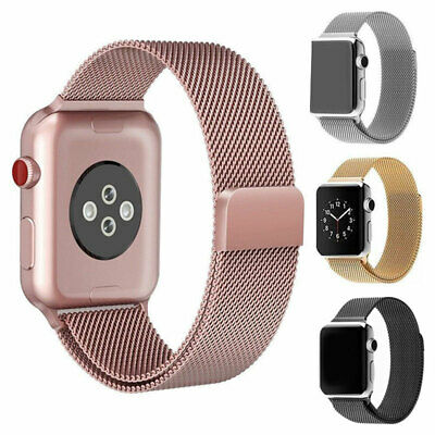 For Apple iWatch Series 3 2 1 Magnetic Milanese Loop Band Watch Strap 38mm/42mm