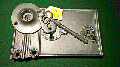 1866 RUSSELL & ERWIN #272 RIM LOCK w/KEY & KEEPER: RECONDITIONED - NICE  (11279)