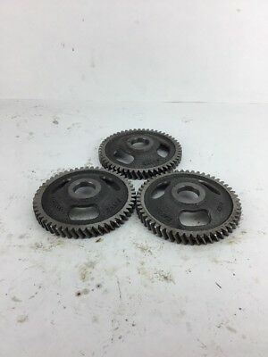 Lot Of 3 industrial steampunk cast iron gear sprocket lamp Part