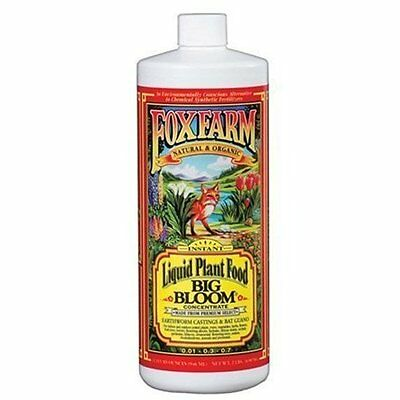 Fox Farm Big Bloom 1 Quart qt 32oz - organic nutrients hydroponics flower