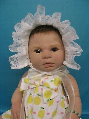 Reborn Doll INDRA by Reva Schick.Anatomically correct.Glass eyes. PRICE REDUCED!