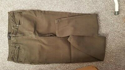Immaculate river island  Boy's green khaki Skinny Stretch Jeans age 12 years