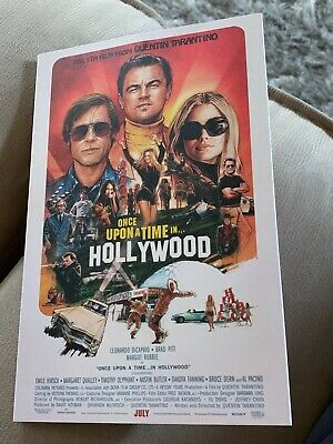 Once Upon A Time In Hollywood 35 MM Fold Out Brochure Portland Theatre Tarantino
