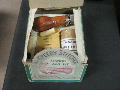 The Speedy Stitcher Sewing Awl Kit,  Vintage   eb09