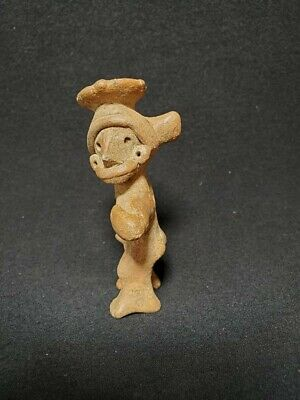 Pre-Columbian Colima figure holding slingshot from Mexico. Ca. 400 bc.